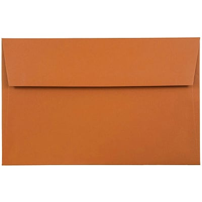 JAM Paper® A9 Invitation Envelopes, 5.75 x 8.75, Dark Orange, 250/box (61511364H)