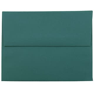 JAM Paper® A2 Invitation Envelopes, 4.375 x 5.75, Teal, 25/Pack (124823544)