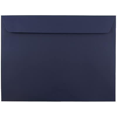 JAM Paper® 9 x 12 Booklet Envelopes, Navy Blue, 25/pack (263916011)