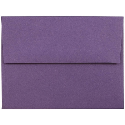 JAM Paper® A2 Invitation Envelopes, 4 3/8 x 5 3/4, Dark Purple, 250/box (563912506H)