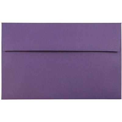 JAM Paper® A10 Invitation Envelopes, 6 x 9.5, Dark Purple, 25/pack (563912514)