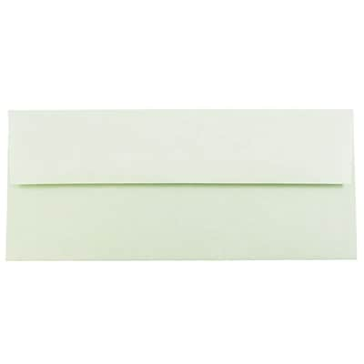 JAM Paper® #10 Business Envelopes, 4 1/8 x 9 1/2, Parchment Green Recycled, 500/box (900906636H)