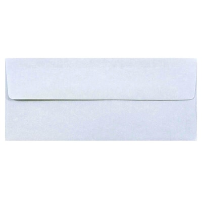 JAM Paper® #10 Parchment Business Envelopes, 4.125 x 9.5, Blue Recycled, Bulk 500/Box (900908732H)