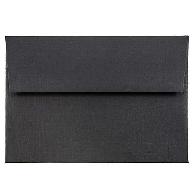 JAM Paper® 4bar A1 Envelopes, 3 5/8 x 5 1/8, Black Linen Recycled , 250/box (900919196H)