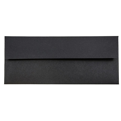 JAM Paper® #10 Business Envelopes, 4 1/8 x 9 1/2, Black Linen Recycled, 500/box (900921796H)