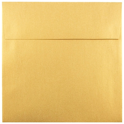 JAM Paper® 6 x 6 Square Envelopes, Stardream Metallic Gold, 250/box (GCST510H)
