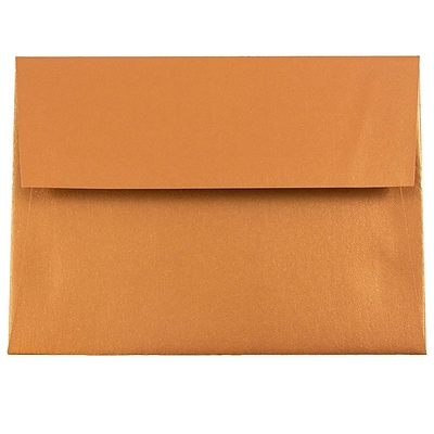 JAM Paper® A6 Invitation Envelope - 4 3/4 x 6 1/2 - Star dream Metallic Copper - 1000/carton