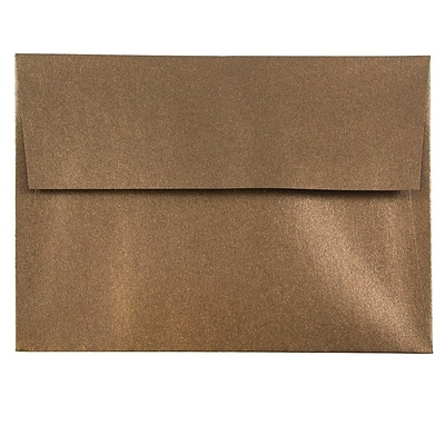 JAM Paper® A6 Invitation Envelopes, 4.75 x 6.5, Stardream Metallic Bronze, 25/pack (GCST652)