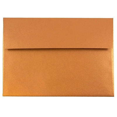 JAM Paper® A7 Invitation Envelope - 5 1/4 x 7 1/4 - Star dream Metallic Copper - 1000/carton