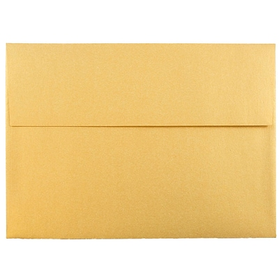 JAM Paper® A7 Invitation Envelopes, 5.25 x 7.25, Stardream Metallic Gold, 25/pack (GCST708)