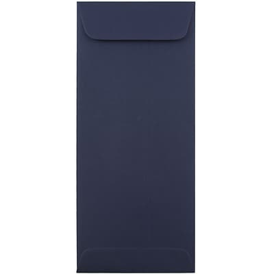 JAM Paper® #10 Policy Envelopes, 4 1/8 x 9 1/2, Navy Blue, 50/pack (LEBA317I)