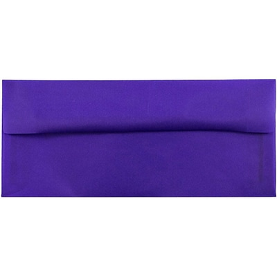 JAM Paper® #10 Business Envelopes, 4 1/8 x 9 1/2, Purple Translucent Vellum, 500/box (PACV357H)