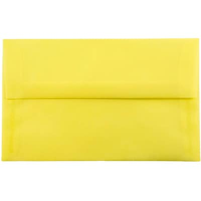 JAM Paper® A10 Invitation Envelopes, 6 x 9.5, Yellow Translucent Vellum, 25/pack (PACV856)