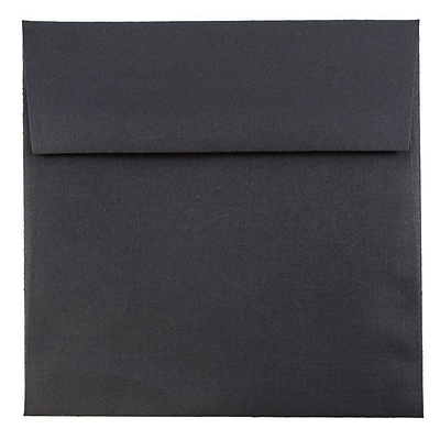 JAM Paper® 5.5 x 5.5 Square Envelopes, Black Linen Recycled, 50/pack (V01210I)