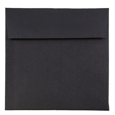JAM Paper® 6 x 6 Square Envelopes, Black Linen Recycled, 25/pack (V01212)