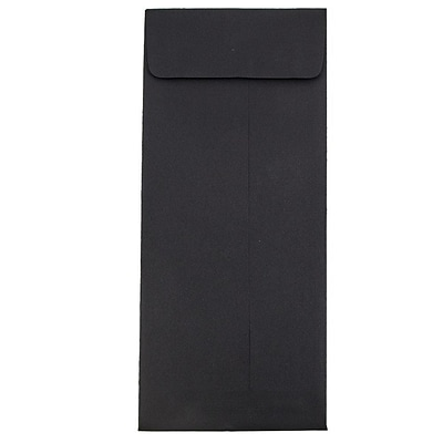 JAM Paper® #14 Policy Envelopes, 5 x 11.5, Black Linen Recycled, 1000/carton (V01221B)