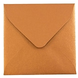 JAM Paper® 3.125 x 3.125 Mini Square Envelopes, Stardream Metallic Copper, 100/pack (V018242A)