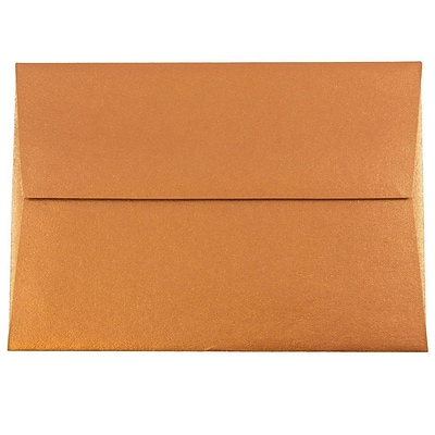 JAM Paper® 4bar A1 Envelopes, 3 5/8 x 5 1/8, Stardream Metallic Copper, 50/pack (V018246I)