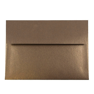JAM Paper® A7 Invitation Envelopes, 5.25 x 7.25, Stardream Metallic Bronze, 250/box (V018275H)