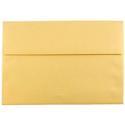 JAM Paper® A8 Invitation Envelopes, 5.5 x 8.125, Stardream Metallic Gold, 1000/carton (V018295B)
