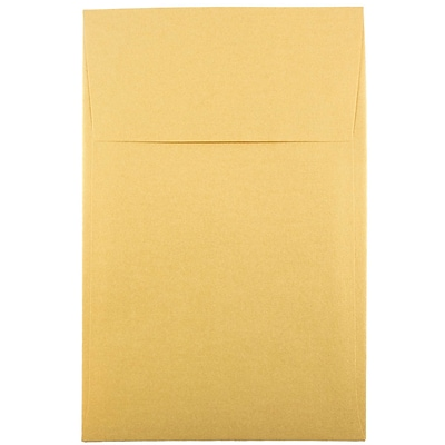 JAM Paper® A10 Policy Envelopes, 6 x 9.5, Stardream Metallic Gold, 50/pack (V018304I)