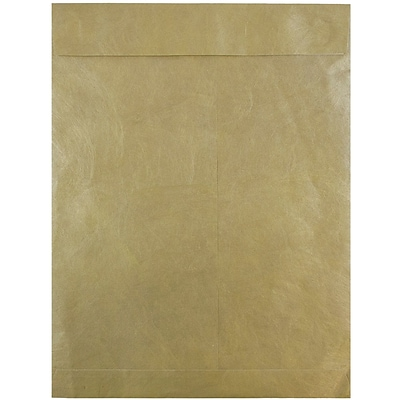 JAM Paper® 10 x 13 Tyvek Envelopes, Catalog Open End with Self Adhesive Closure, Gold, 25/pack (V021378)