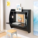 Prepac 42.25 L-Shape Metal Contemporary Wall Mounted Desk, Black (BEHW-0200-1)