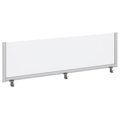 Bush Business Furniture 72W Desk Top Privacy Screen , Frosted Acrylic/Anodized Aluminum (PSP172FR)