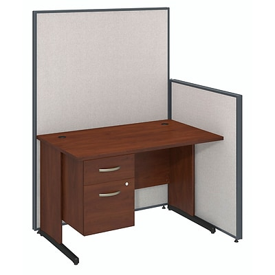Bush Business Furniture 48W C-Leg Desk with 3/4 Pedestal and ProPanels, Light Gray (PPC019LG)