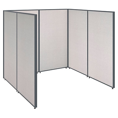 Bush Business Furniture ProPanels 72W x 72D x 66H Open Cubicle Configuration, Light Gray (PPC001LG)