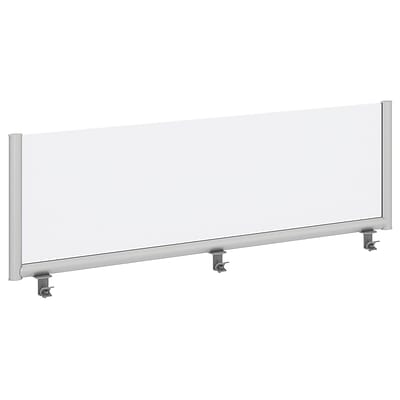 Bush Business Furniture 60W Desk Top Privacy Screen , Frosted Acrylic/Anodized Aluminum (PSP160FRFA)