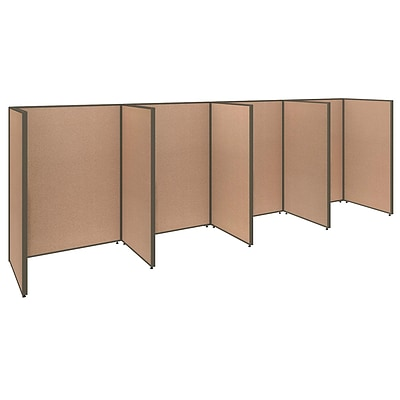 Bush Business Furniture ProPanels 192W x 36D x 66H 4 Person Open Cubicle Configuration, Harvest Tan (PPC007HT)