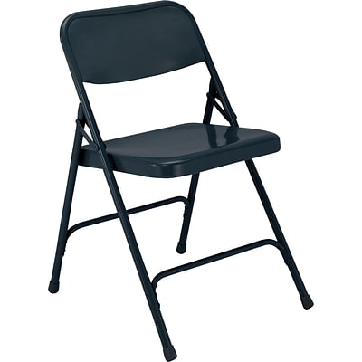 NPS #204 Premium All-Steel Folding Chairs, Char-Blue/Char-Blue - 52 Pack