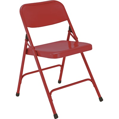 NPS #240 Premium All-Steel Folding Chairs, Red/Red - 100 Pack