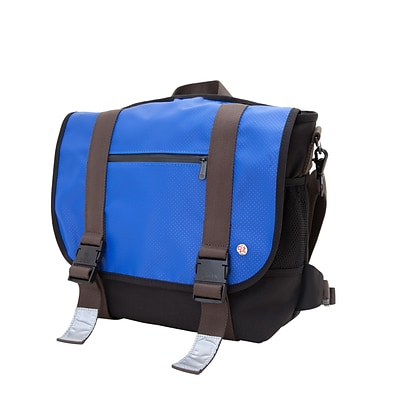 Token Lorimer Matte Vinyl Messenger Bag Medium Royal Blue (TK-614-MT RBL)