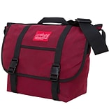 Manhattan Portage Waxed Canvas Messenger Bag Medium Red (1635 RED)