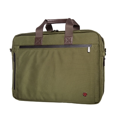 Token Lawrence Laptop Bag Large With Back Zipper Olive (TK-445Z OLV)