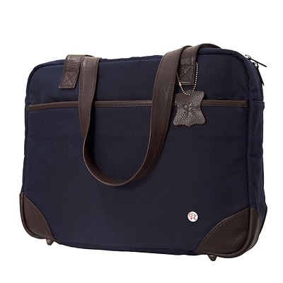 Token Hudson Waxed Shoulder Bag Navy (TK-540-WX NVY)