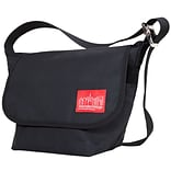 Manhattan Portage Waxed Vintage Messenger Bag Small Black (1605V-WP BLK)