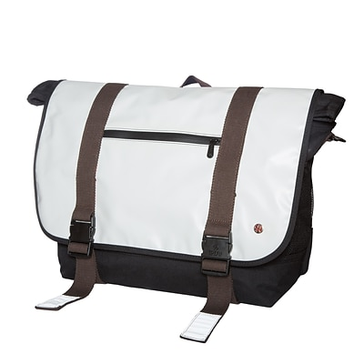 Token Lorimer Vinyl Messenger Bag Large Grey (TK-615 GRY)