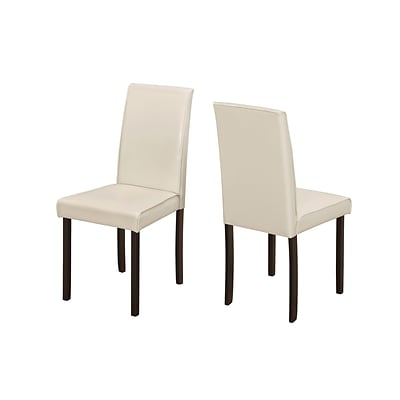 Monarch Specialties Ivory Leather-Look 2Pcs Dining Chairs ( I 1174 )