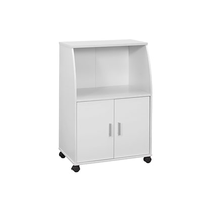 Monarch Specialties 22W Kitchen Cart in a White Wood Finish ( I 3139 )