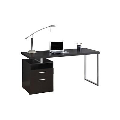 Monarch Specialties Computer Desk 60l Cappuccino Silver Metal I 7143