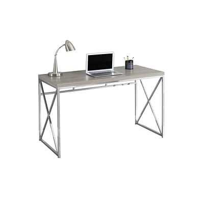 Monarch Specialties Computer Desk 48l Dark Taupe And Chrome Metal I 7204