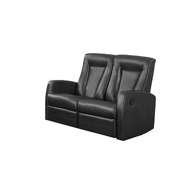 Monarch Specialties 50L Black 2 Piece Loveseat ( I 82BK-2 )