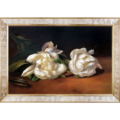 Tori Home Branch of White Peonies w/