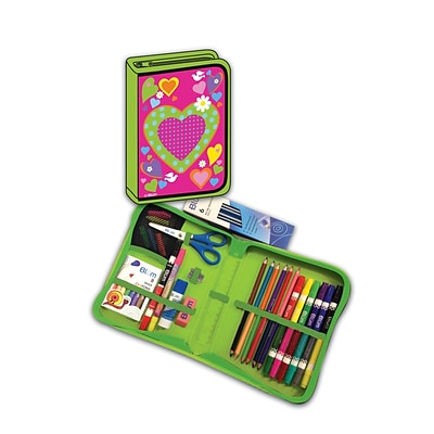 Heart Designed All-In-One School Supplies with Carrying Case, Grades K-4, 41 Pieces (BMB26011669)
