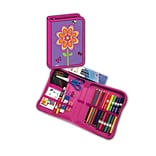 Flowers Designed All-In-One School Supplies with Carrying Case, Grades K-4, 41 Pieces (BMB26011676)