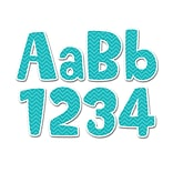 Creative Teaching Press Turquoise Chevron 4 Designer Letters (CTP1946)