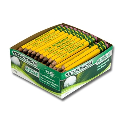 Dixon Ticonderoga® Golf Pencils, No. 2